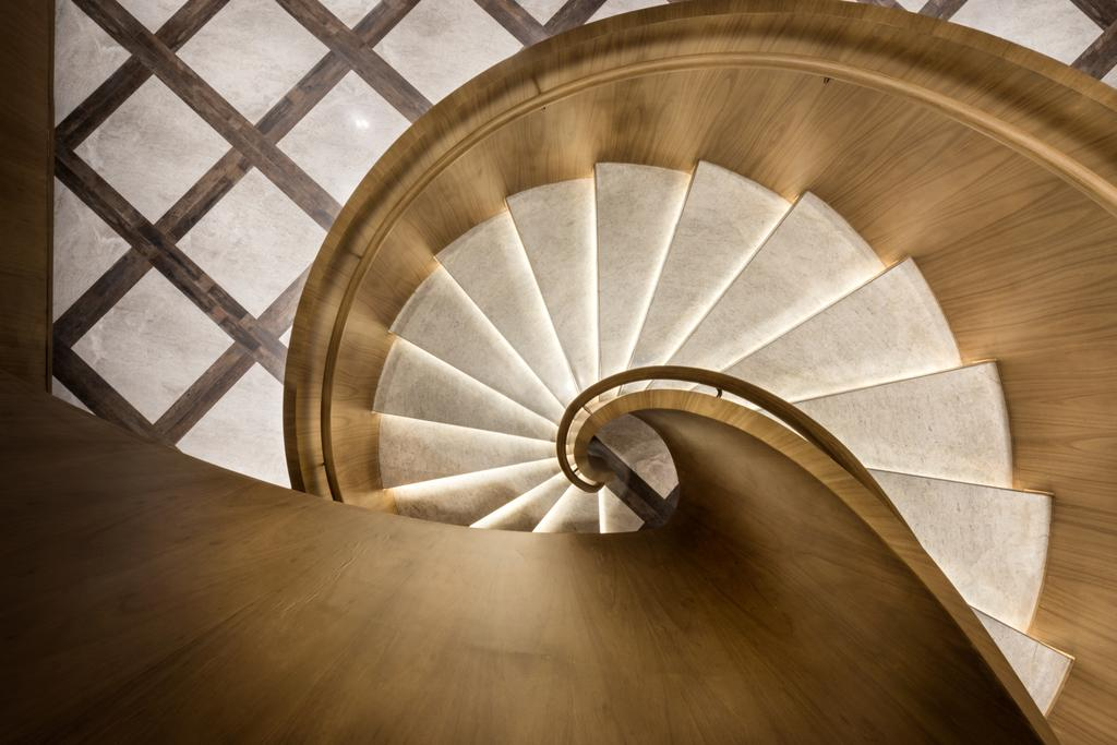 Uno Showroom, Commercial, Interior Designer, A.RK Interior Design, Contemporary, Living Room, Banister, Handrail, Staircase