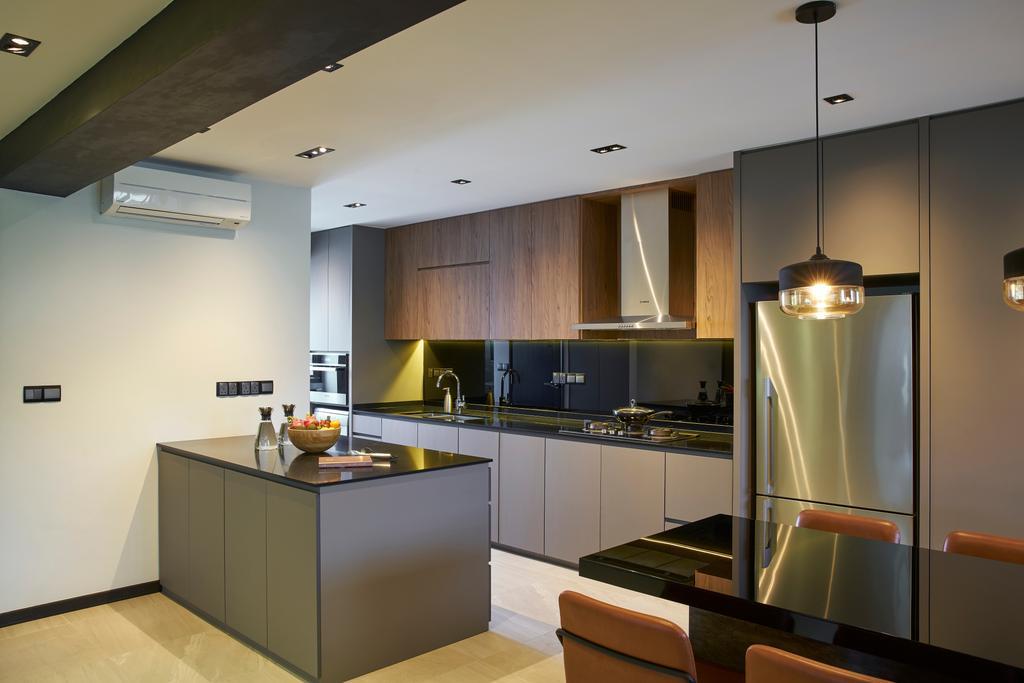 Modern, HDB, Kitchen, Bedok Reservoir Road, Interior Designer, Jubilee Interior, Indoors, Interior Design, Room, Furniture, Sideboard, Appliance, Electrical Device, Oven