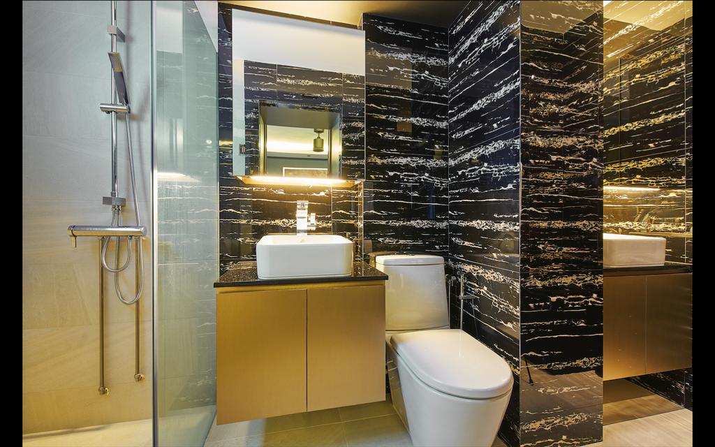 Modern, HDB, Bathroom, Bedok Reservoir Road, Interior Designer, Jubilee Interior, Blackboard