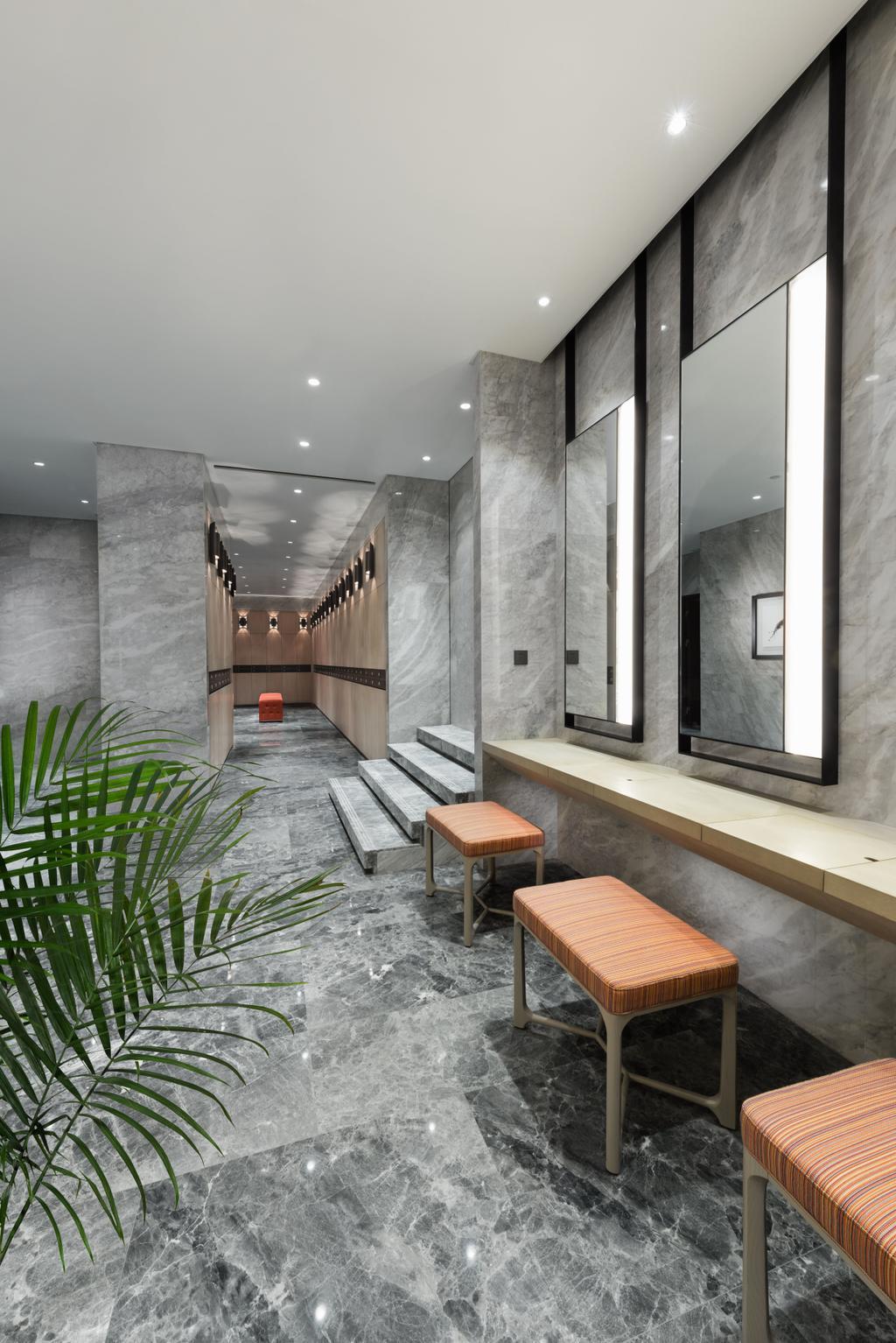 Gallery Clubhouse, Commercial, Interior Designer, A.RK Interior Design, Modern, Bathroom, Chair, Furniture, HDB, Building, Housing, Indoors, Loft