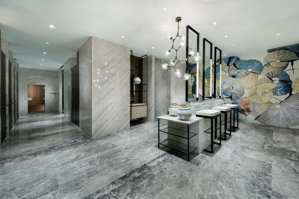 Gallery Clubhouse, Commercial, Interior Designer, A.RK Interior Design, Modern, Bathroom, Canopy, Umbrella, Art, Modern Art