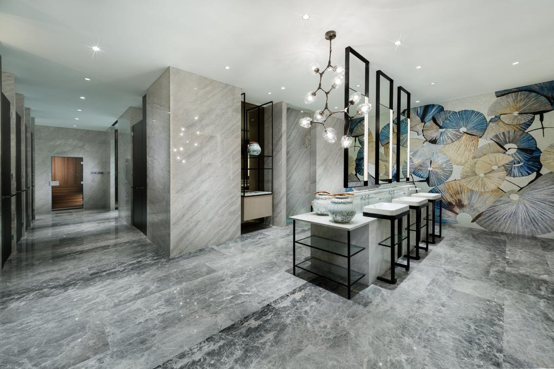 Gallery Clubhouse, A.RK Interior Design, Modern, Bathroom, Commercial, Canopy, Umbrella, Art, Modern Art