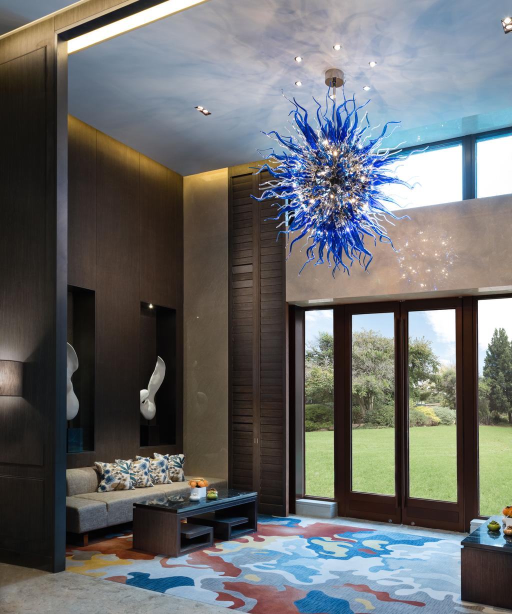 Gallery Clubhouse, Commercial, Interior Designer, A.RK Interior Design, Modern, Balcony, Light Fixture, Indoors, Interior Design