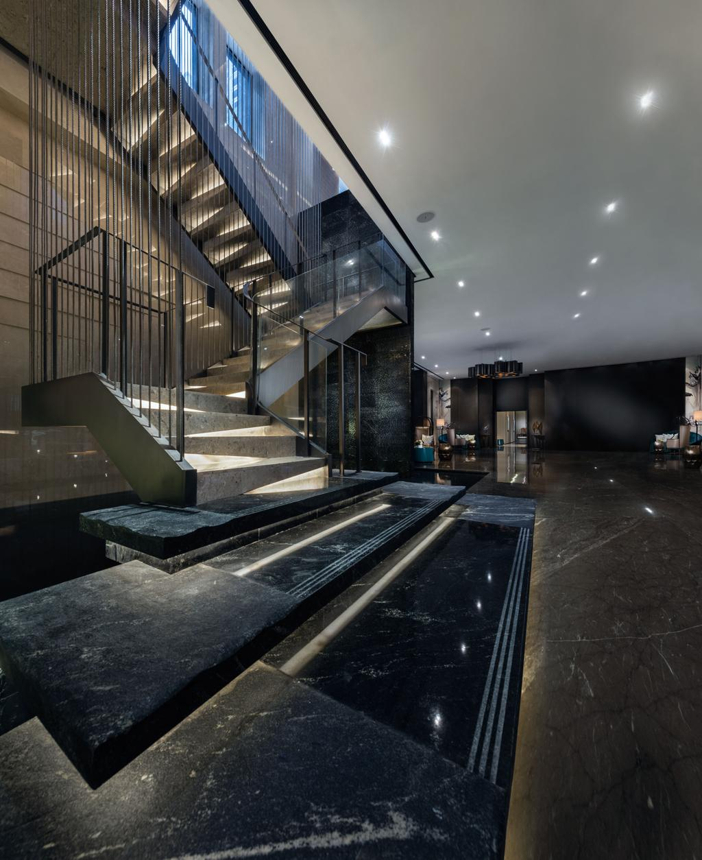 Gallery Clubhouse, Commercial, Interior Designer, A.RK Interior Design, Modern, Banister, Handrail