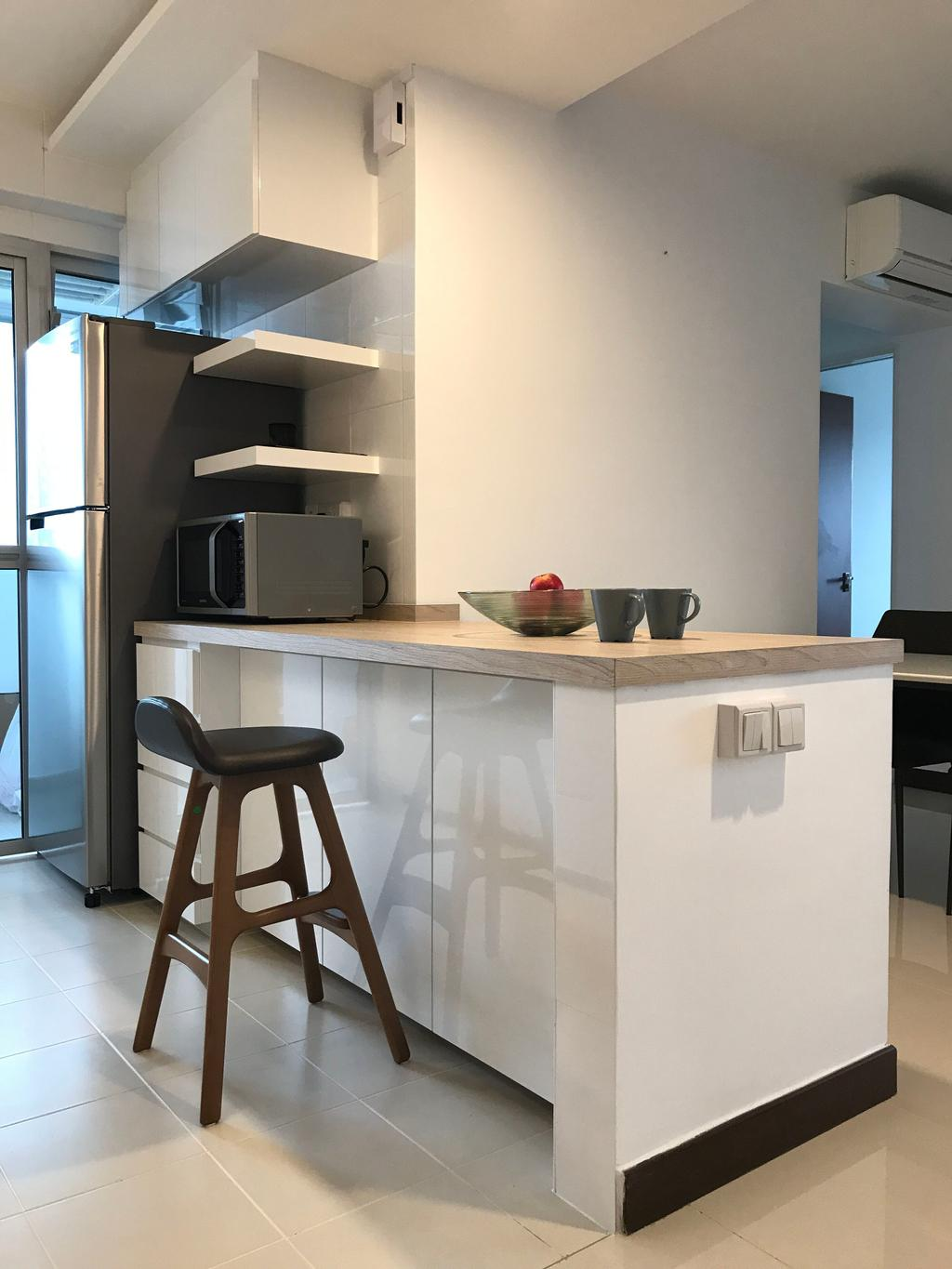 Minimalistic, HDB, Kitchen, Depot Road, Interior Designer, VVID Elements, Chair, Furniture, Dining Table, Table