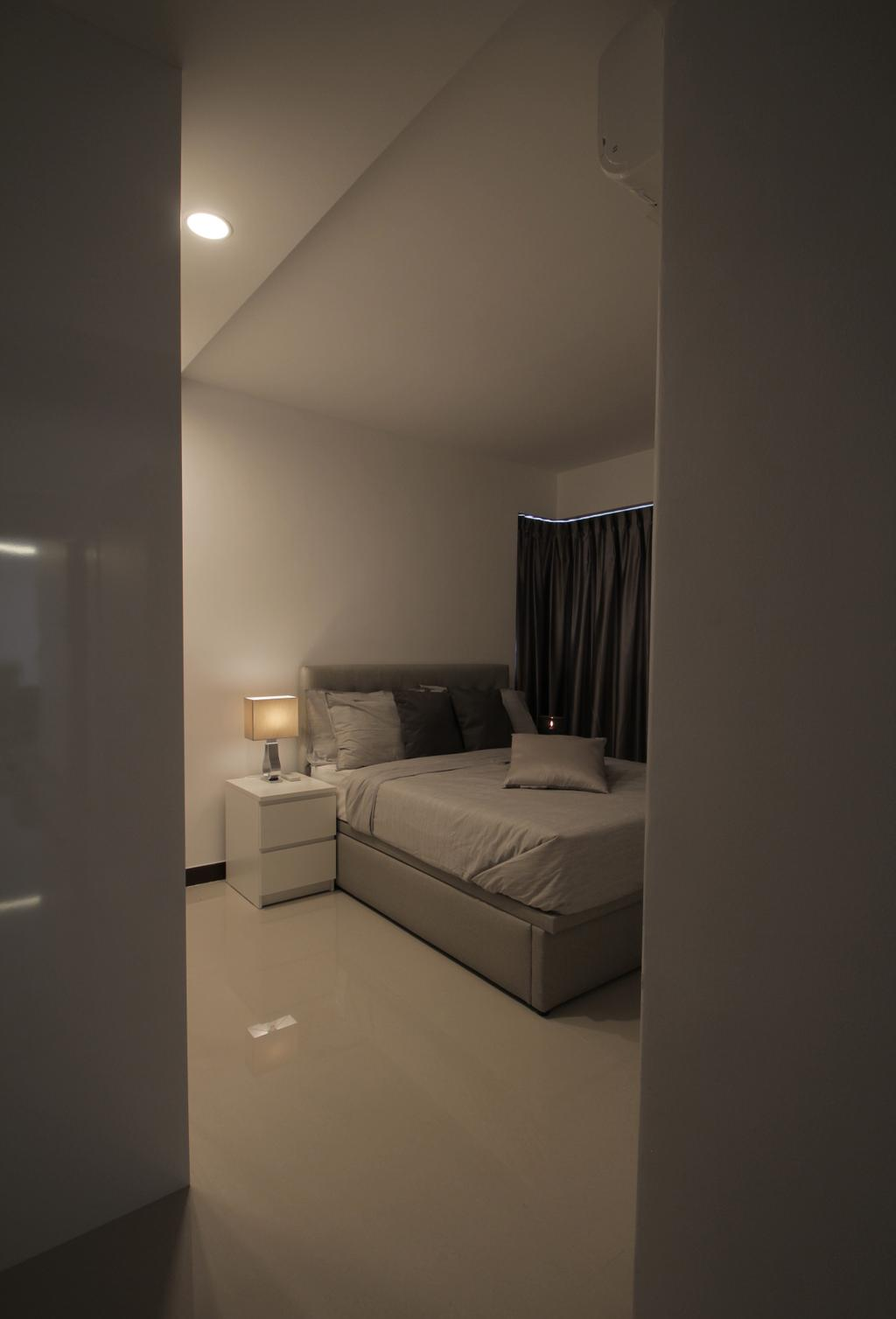 Minimalistic, HDB, Bedroom, Depot Road, Interior Designer, VVID Elements, Couch, Furniture, Bed, Bathroom, Indoors, Interior Design, Room