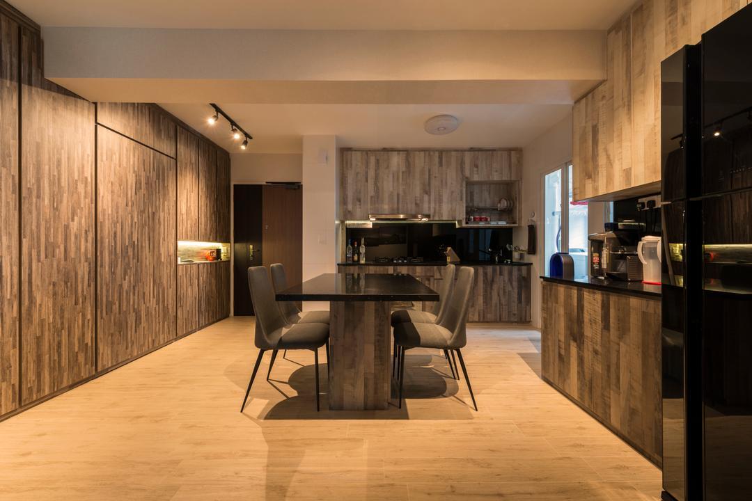 McNair Road (Block 113B), MET Interior, Scandinavian, Modern, Dining Room, HDB, Chair, Furniture, Dining Table, Table, Basement, Indoors, Room