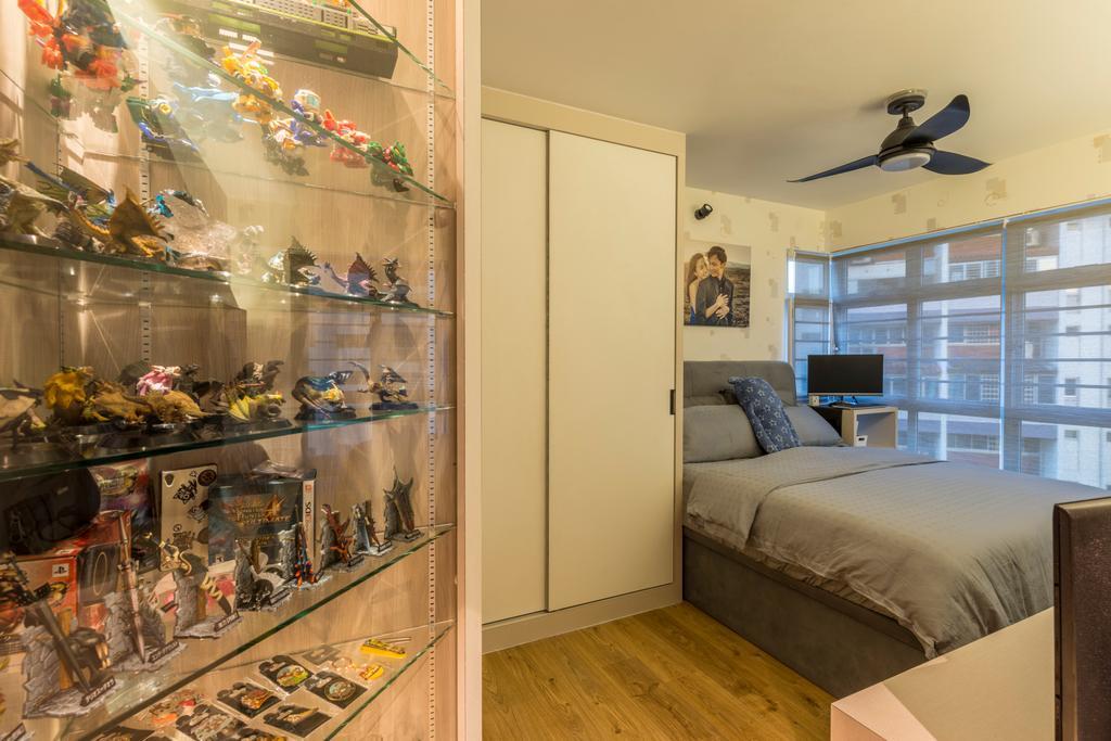 Scandinavian, HDB, Bedroom, McNair Road (Block 113B), Interior Designer, MET Interior, Modern, Couch, Furniture, Appliance, Electrical Device, Oven, Bed