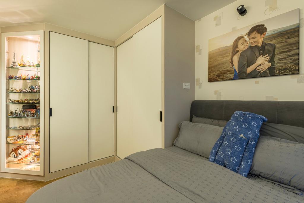 Scandinavian, HDB, Bedroom, McNair Road (Block 113B), Interior Designer, MET Interior, Modern, Human, People, Person, Indoors, Interior Design, Room
