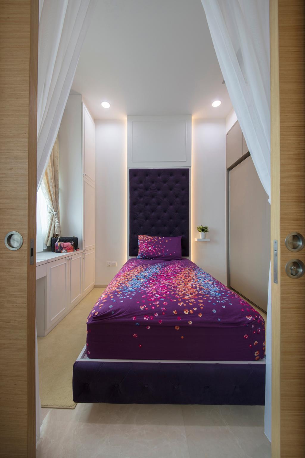 Contemporary, Condo, Bedroom, The Glades, Interior Designer, Colourbox Interior, Bed, Furniture, Indoors, Interior Design, Room
