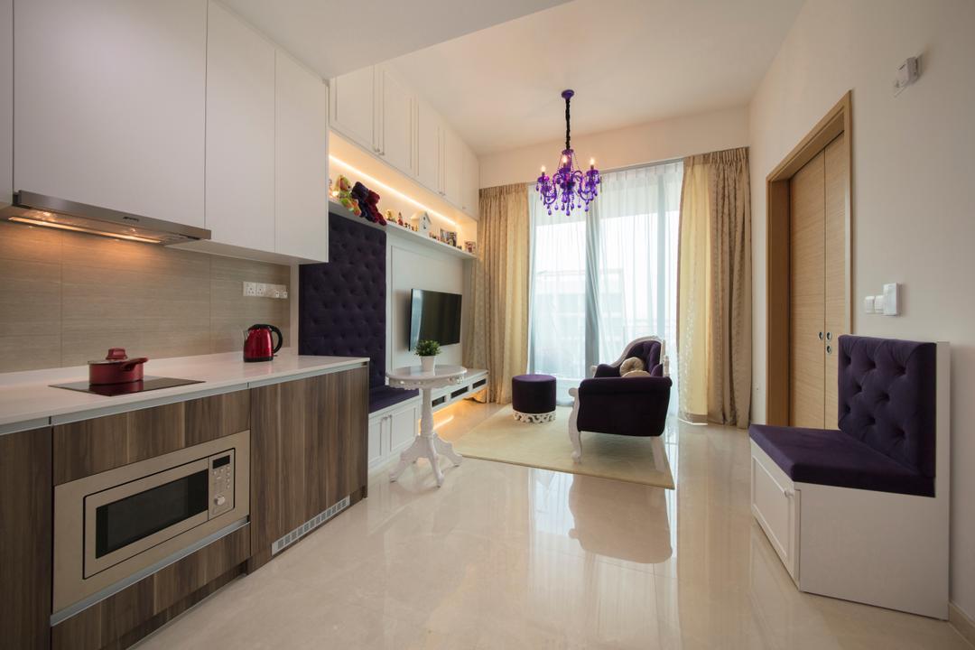 The Glades, Colourbox Interior, Contemporary, Living Room, Condo, Compact Space, Small Condo, Shoebox, Indoors, Interior Design