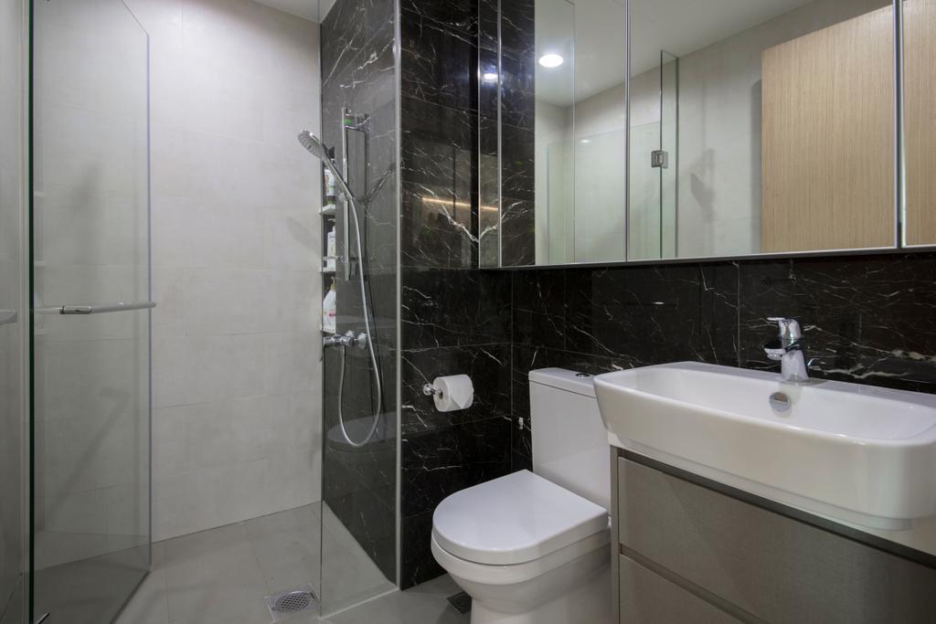 Contemporary, Condo, Bathroom, The Glades, Interior Designer, Colourbox Interior, Indoors, Interior Design, Room