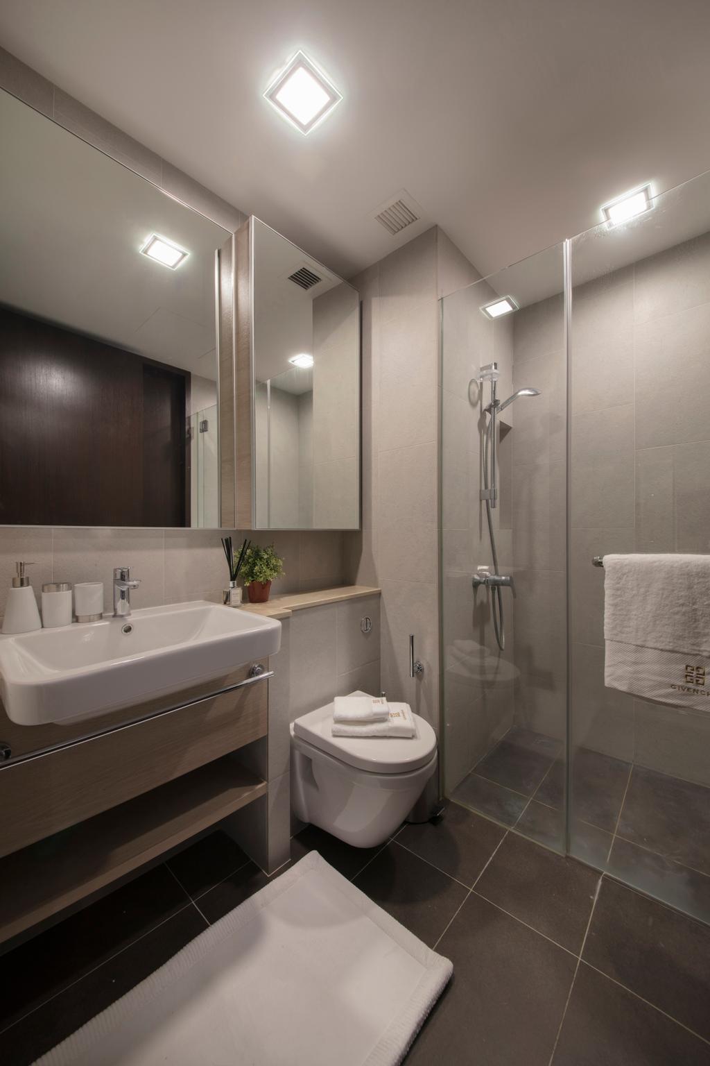 Contemporary, Condo, Bathroom, Jurong Kechil, Interior Designer, Mr Shopper Studio, Shower, Indoors, Interior Design, Room