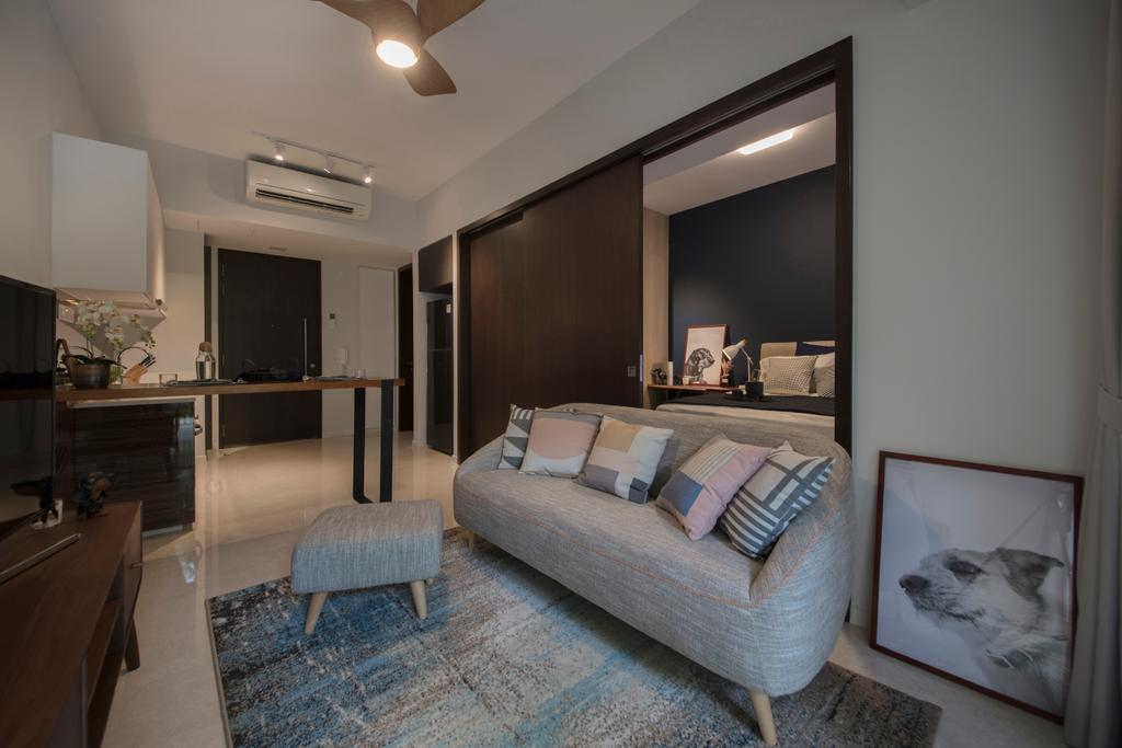 Contemporary, Condo, Living Room, Jurong Kechil, Interior Designer, Mr Shopper Studio, Bedroom, Indoors, Interior Design, Room, Couch, Furniture, Appliance, Electrical Device, Oven