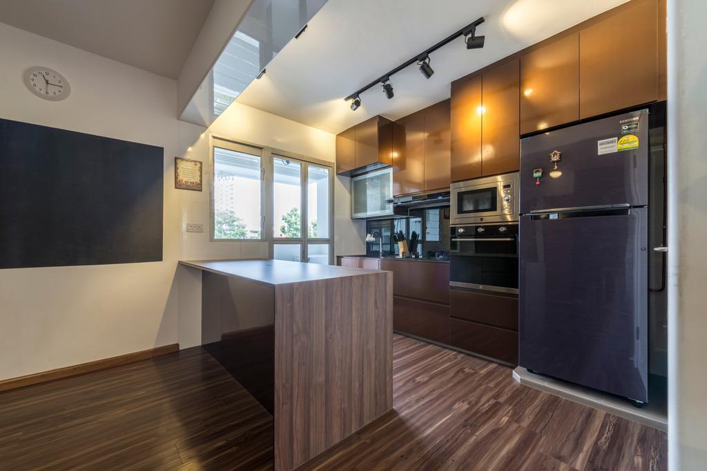 Industrial, HDB, Kitchen, Boon Lay Avenue, Interior Designer, Butler Interior, Scandinavian, Blackboard