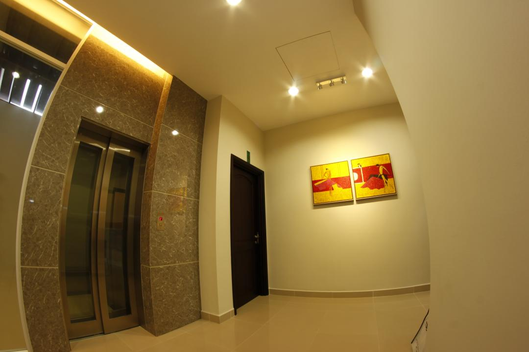 D'Residence, Zeng Interior Design Space, Modern, Landed, Spiral, Corridor