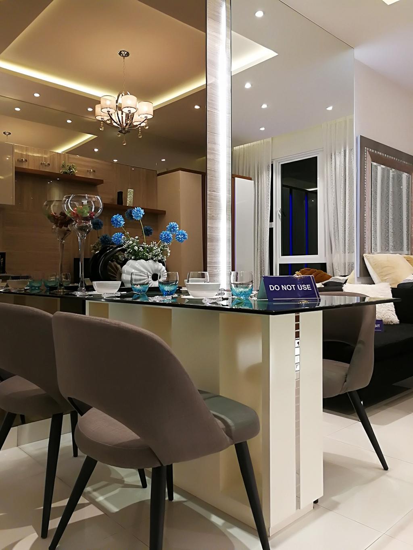 Contemporary, Condo, Rica Residences @ Sentul, Interior Designer, The Arch, Modern, Chair, Furniture, Flora, Jar, Plant, Potted Plant, Pottery, Vase, Dining Room, Indoors, Interior Design, Room, Lighting