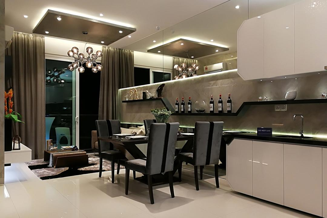Type A1, Rica Residences @ Sentul, The Arch, Contemporary, Modern, Condo, Dining Table, Furniture, Table, Chair, Restaurant, Indoors, Interior Design
