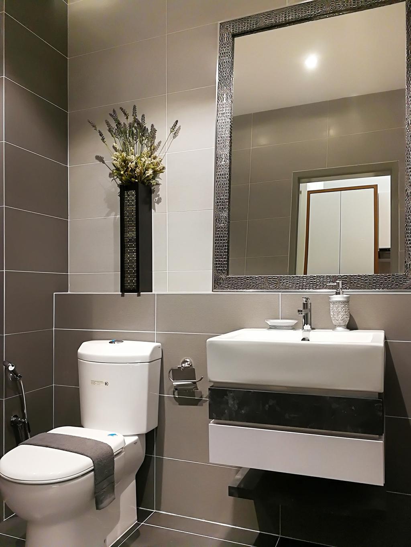 Contemporary, Condo, Rica Residences @ Sentul, Interior Designer, The Arch, Modern, Sink, Bathroom, Indoors, Interior Design, Room