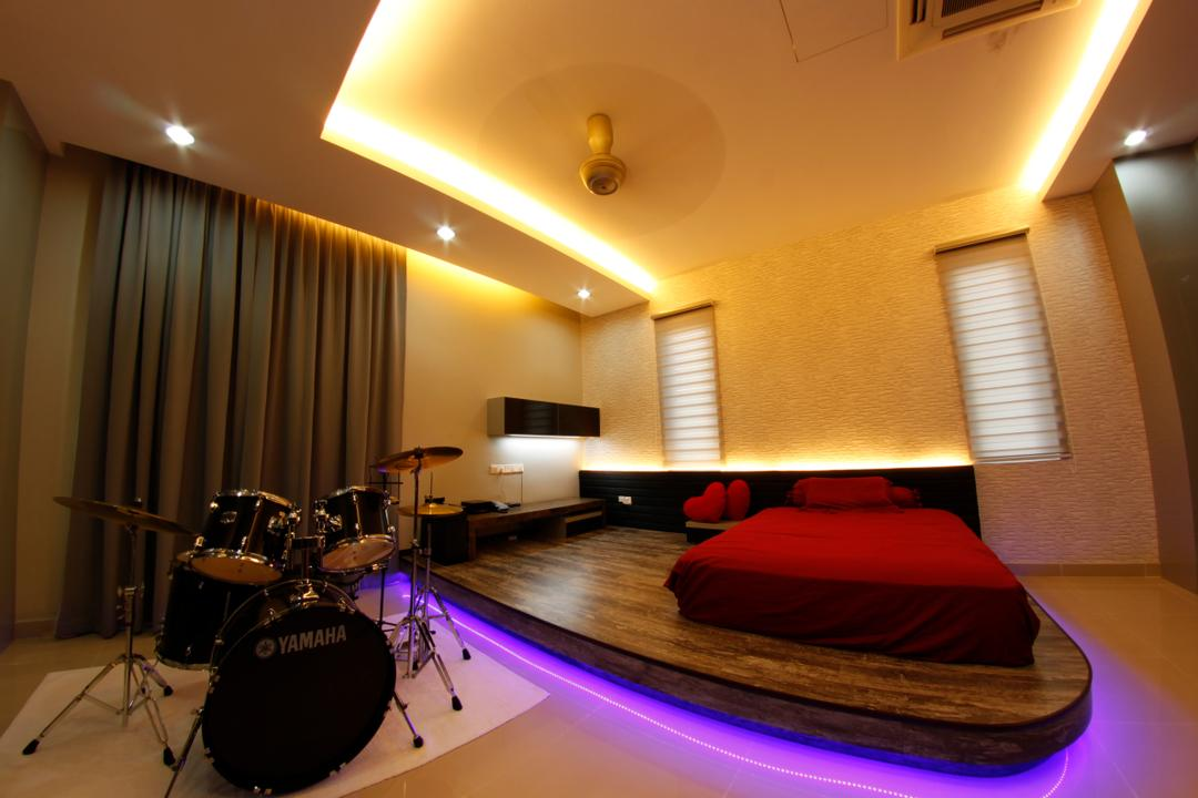D'Residence, Zeng Interior Design Space, Modern, Bedroom, Landed, Studio, Drum, Leisure Activities, Music, Musical Instrument, Percussion, Indoors, Interior Design