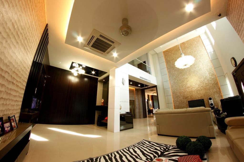 Modern, Landed, Living Room, D'Residence, Interior Designer, Zeng Interior Design Space, Couch, Furniture, Toilet, Indoors, Interior Design, Room