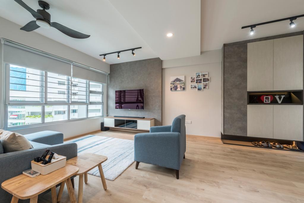 Scandinavian, HDB, Living Room, Ang Mo Kio Street 21, Interior Designer, United Team Lifestyle, Couch, Furniture