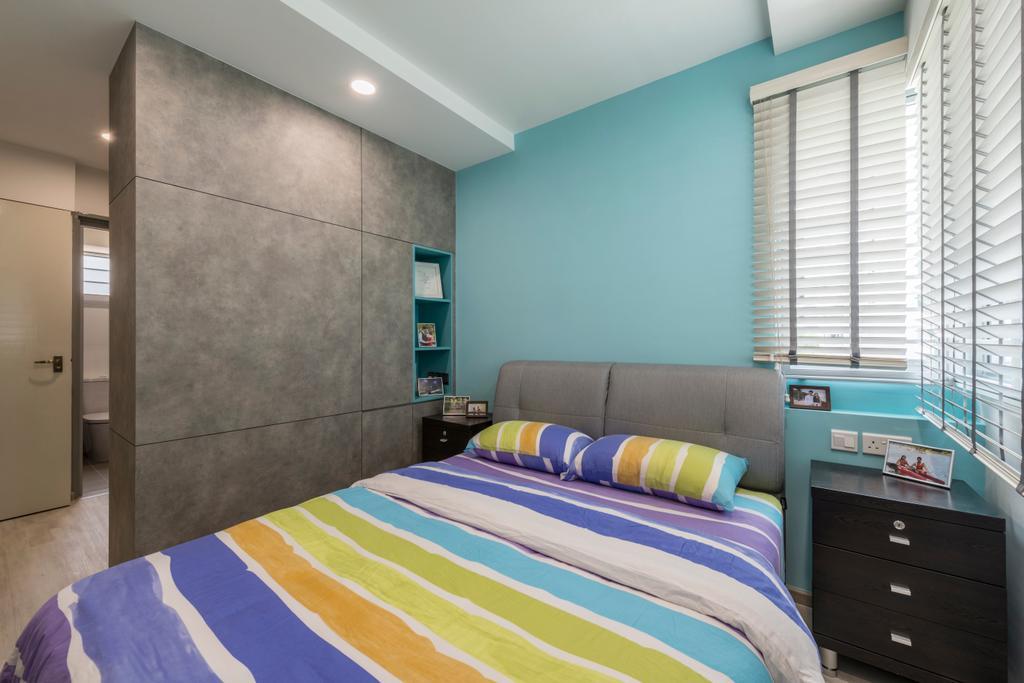 Scandinavian, HDB, Ang Mo Kio Street 21, Interior Designer, United Team Lifestyle, Bed, Furniture, Indoors, Room, Bedroom, Interior Design, Couch