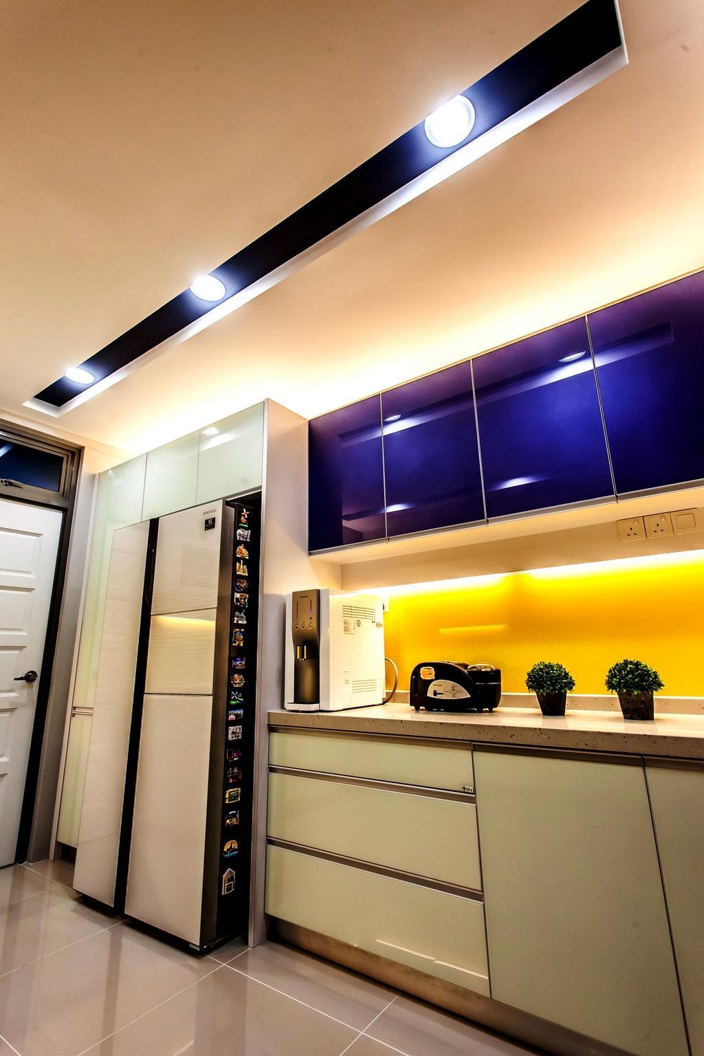 Modern, Condo, Kitchen, All Seasons Park - Type A, Interior Designer, Zeng Interior Design Space, Lighting