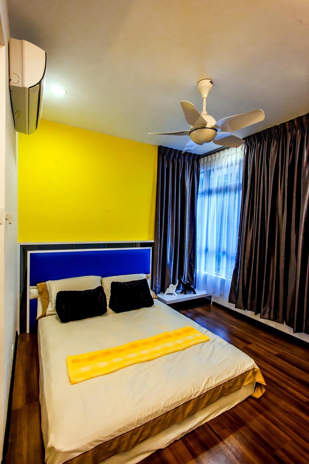 Modern, Condo, Bedroom, All Seasons Park - Type A, Interior Designer, Zeng Interior Design Space, Curtain, Home Decor