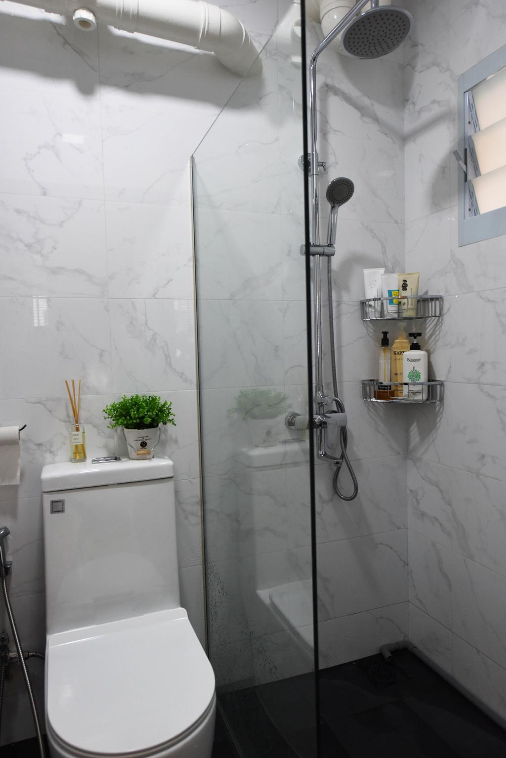 Scandinavian, HDB, Bathroom, Bukit Panjang, Interior Designer, Starry Homestead, Flora, Jar, Plant, Potted Plant, Pottery, Vase, Sink