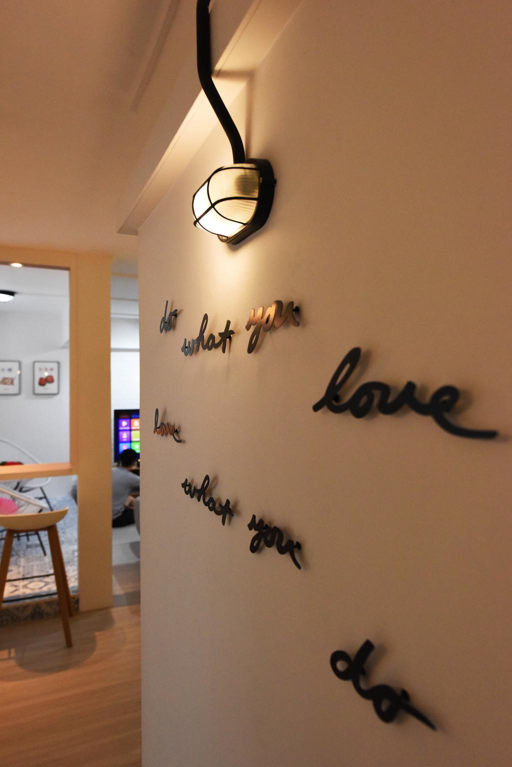 Scandinavian, HDB, Living Room, Bukit Panjang, Interior Designer, Starry Homestead, Electrical Device, Switch, Ornament, Tattoo