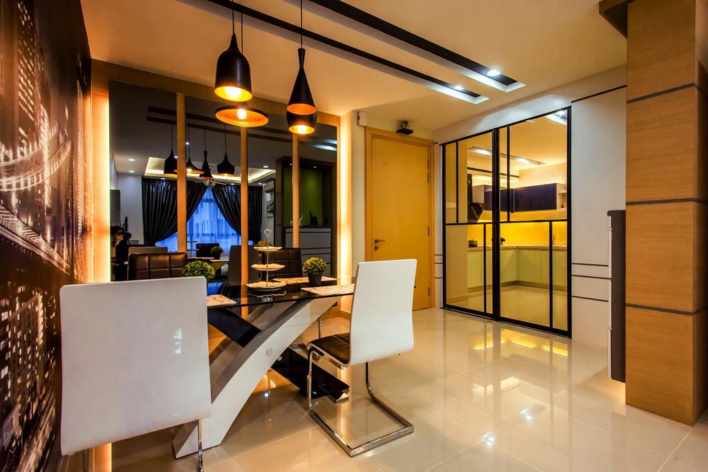 Modern, Condo, Dining Room, All Seasons Park - Type A, Interior Designer, Zeng Interior Design Space, Indoors, Interior Design, Chair, Furniture