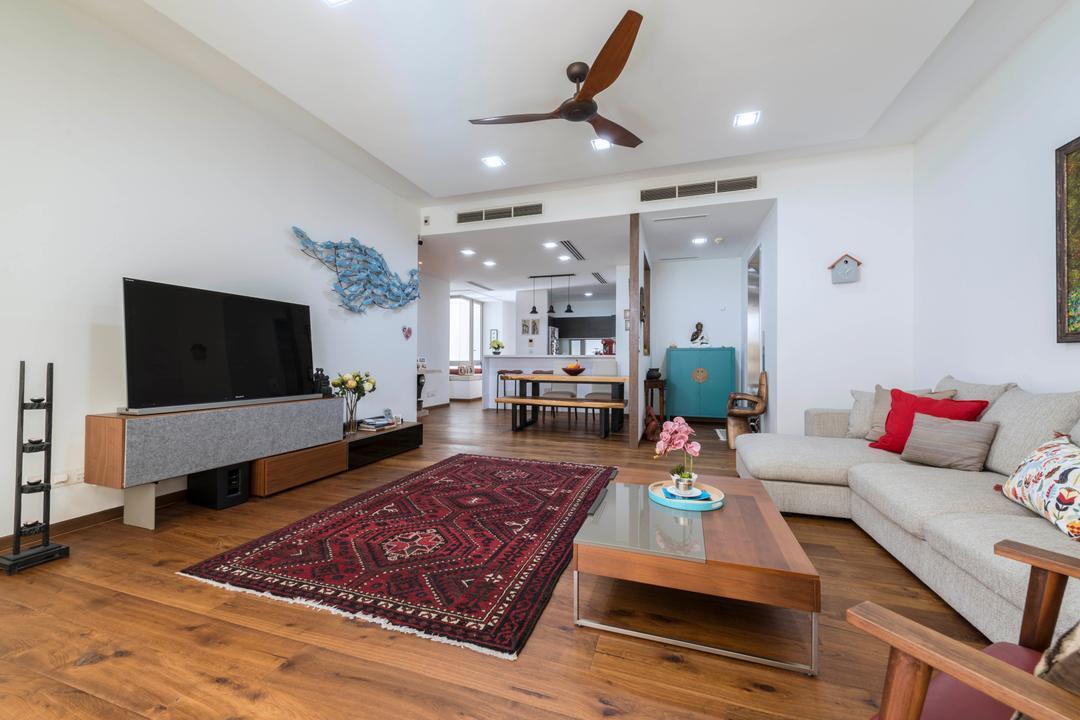 Ocean Drive, A.RK Interior Design, Living Room, Condo, Indoors, Room, Couch, Furniture, Carpet, Home Decor