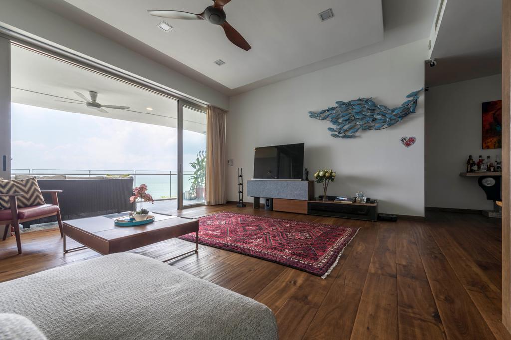 Condo, Living Room, Ocean Drive, Interior Designer, A.RK Interior Design, Couch, Furniture, HDB, Building, Housing, Indoors, Loft, Room, Interior Design