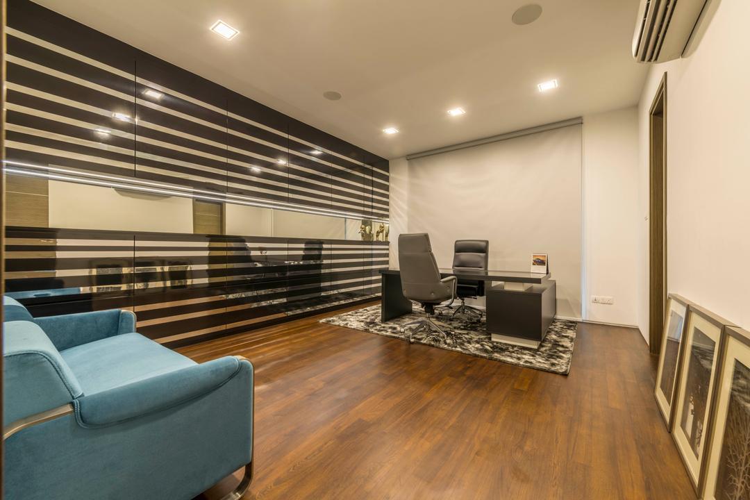 Jalan Lengkok Sembawang, ARK-hitecture, Modern, Study, Landed, Flooring, Chair, Furniture, Hardwood, Wood, Cutlery, Fork