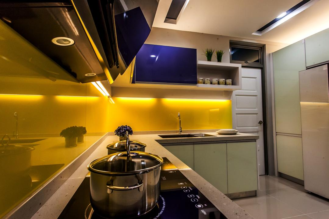 All Seasons Park - Type A, Zeng Interior Design Space, Modern, Kitchen, Condo, Pot