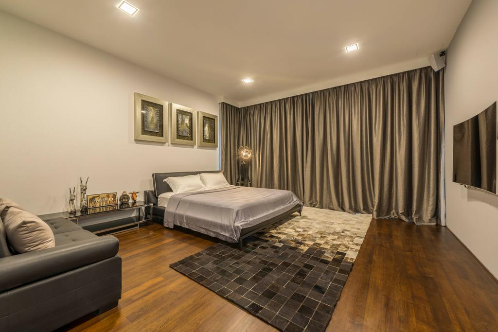 Modern, Landed, Bedroom, Jalan Lengkok Sembawang, Interior Designer, ARK-hitecture, Couch, Furniture, Indoors, Room, Interior Design