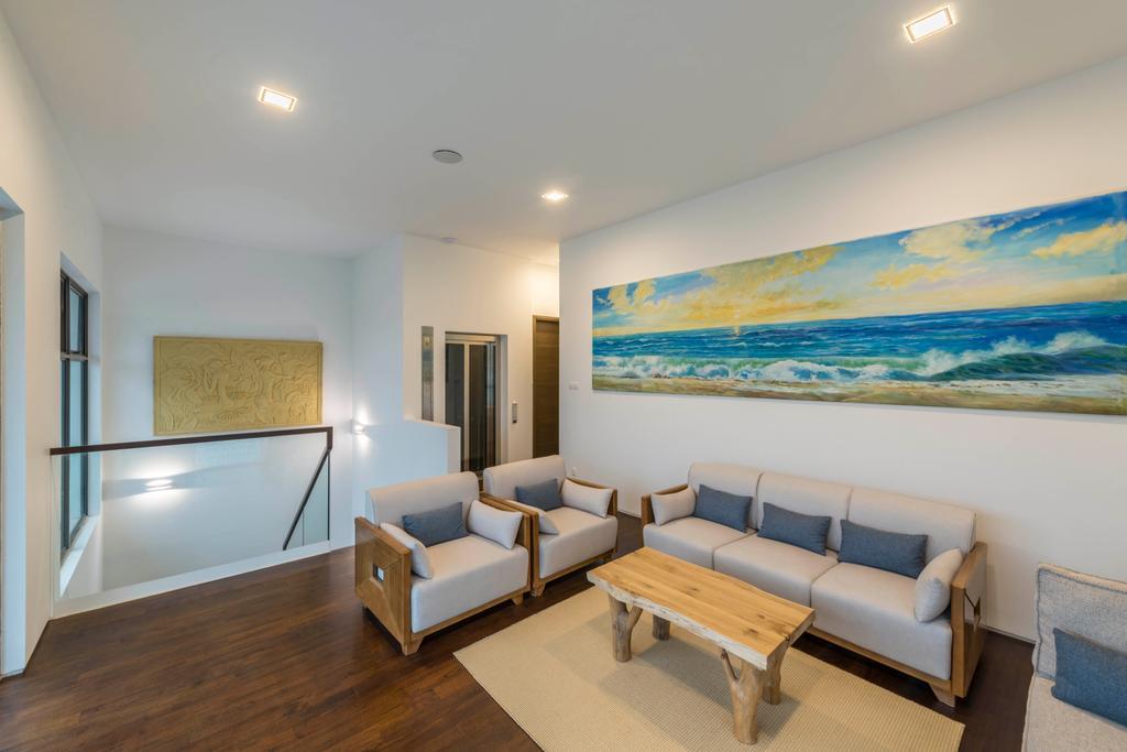 Modern, Landed, Living Room, Jalan Lengkok Sembawang, Interior Designer, ARK-hitecture, Couch, Furniture, Indoors, Room, Waiting Room