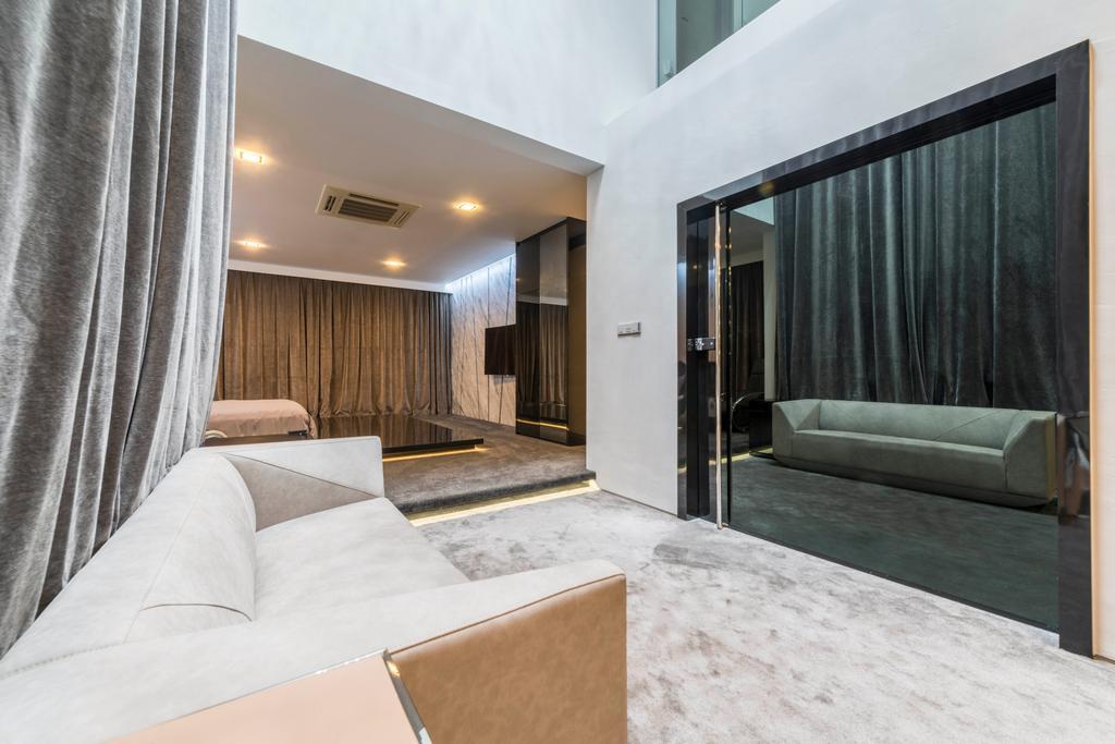 Modern, Landed, Study, Jalan Lengkok Sembawang, Interior Designer, ARK-hitecture, Couch, Furniture, Indoors, Interior Design, Room