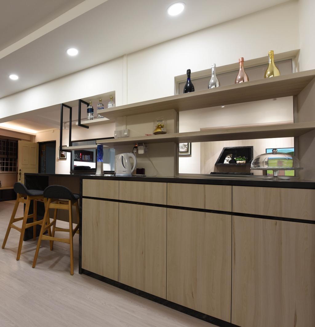 Scandinavian, HDB, Dining Room, Ang Mo Kio (Block 221), Interior Designer, Starry Homestead, Chair, Furniture, Fireplace, Hearth