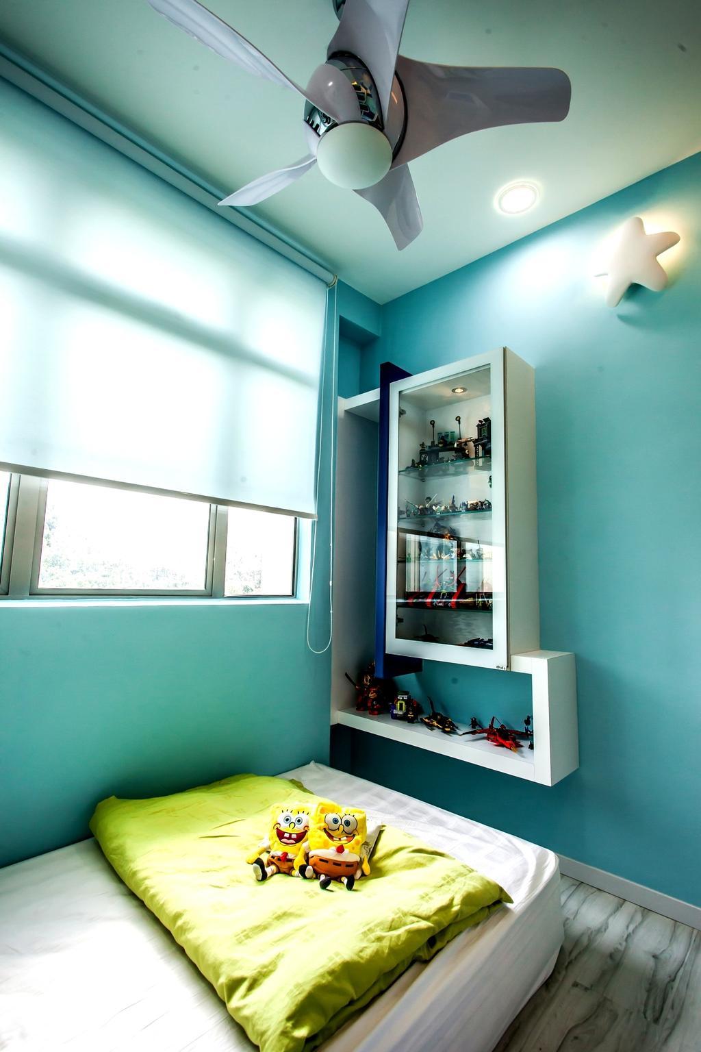 Modern, Condo, Bedroom, All Seasons Park - Type B, Interior Designer, Zeng Interior Design Space, Shelf
