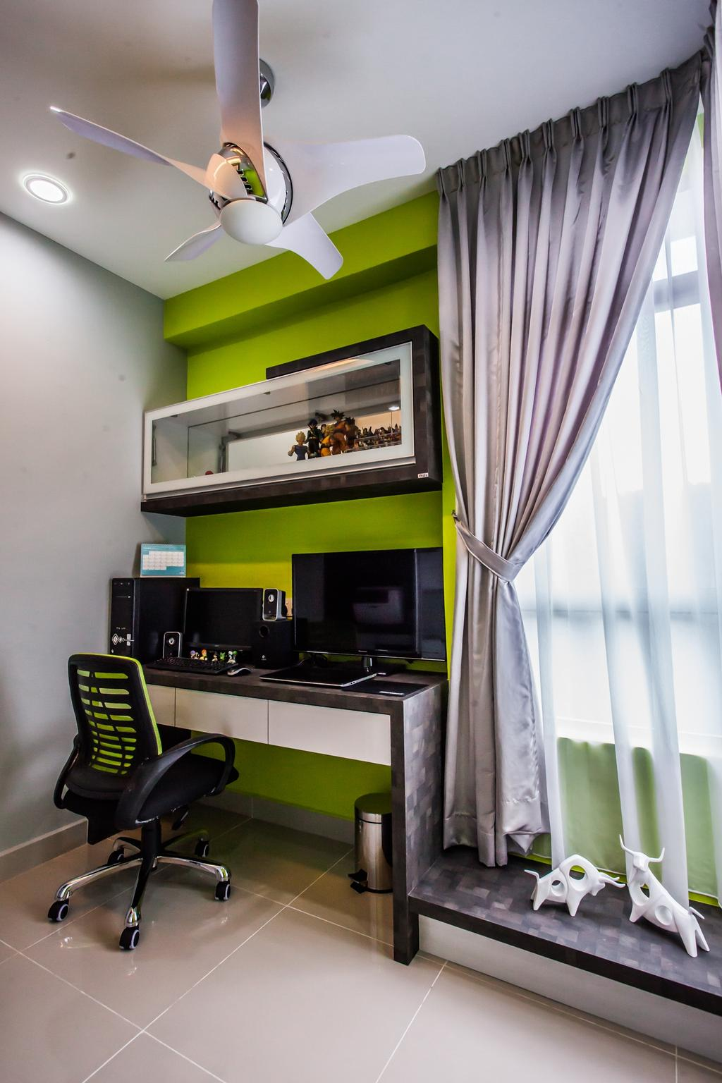 Modern, Condo, Study, All Seasons Park - Type B, Interior Designer, Zeng Interior Design Space, Curtain, Home Decor