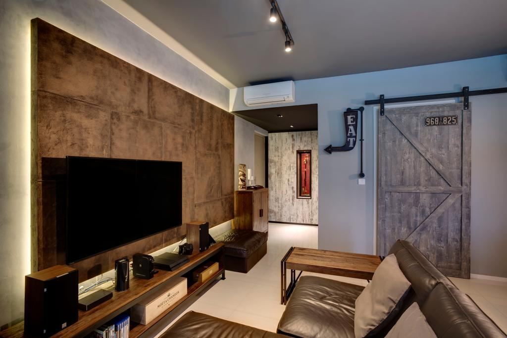 Contemporary, Condo, Amore @ Punggol, Interior Designer, Juz Interior, Couch, Furniture, Electronics, Entertainment Center, Home Theater