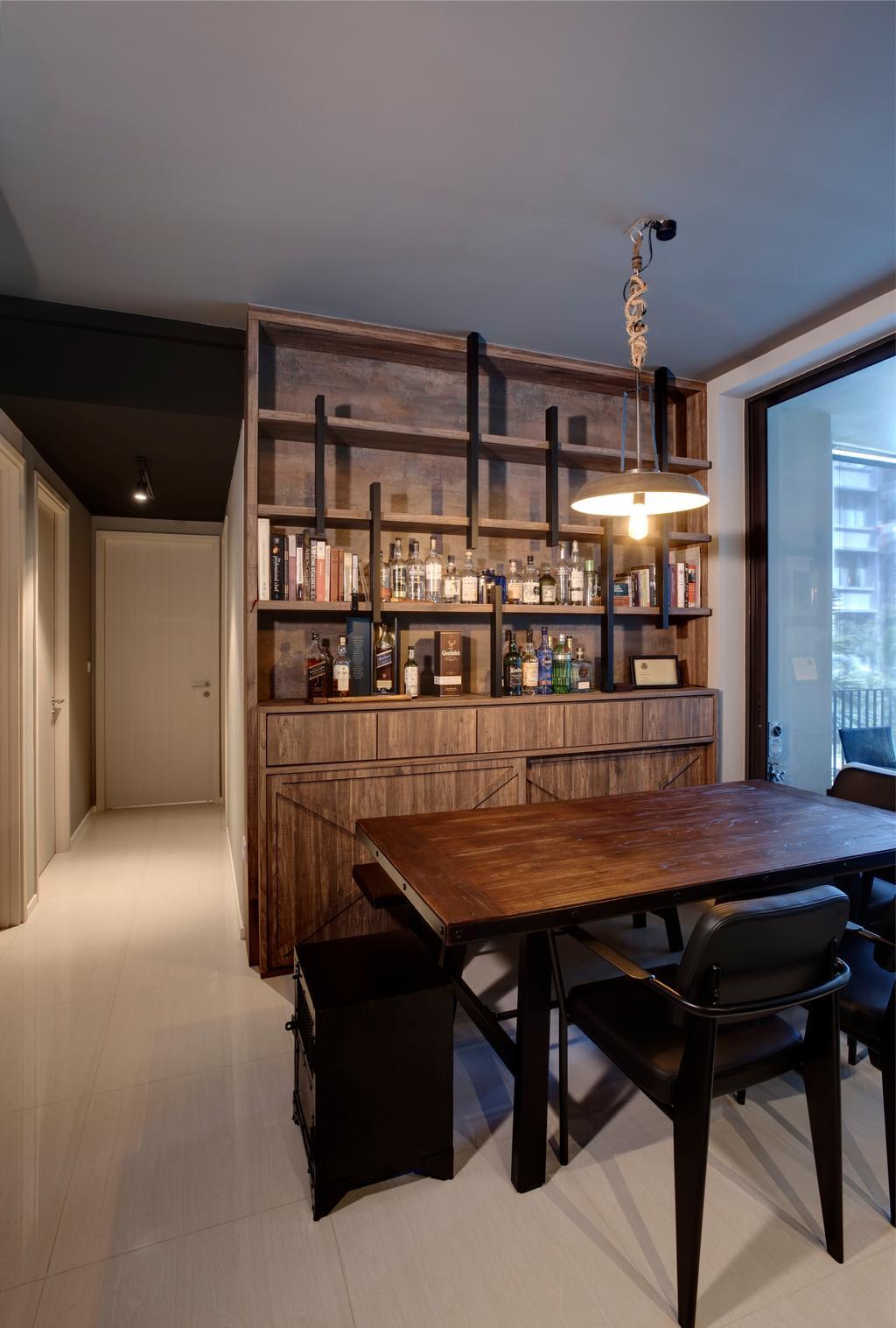 Contemporary, Condo, Amore @ Punggol, Interior Designer, Juz Interior, Dining Room, Indoors, Interior Design, Room, Furniture, Chair