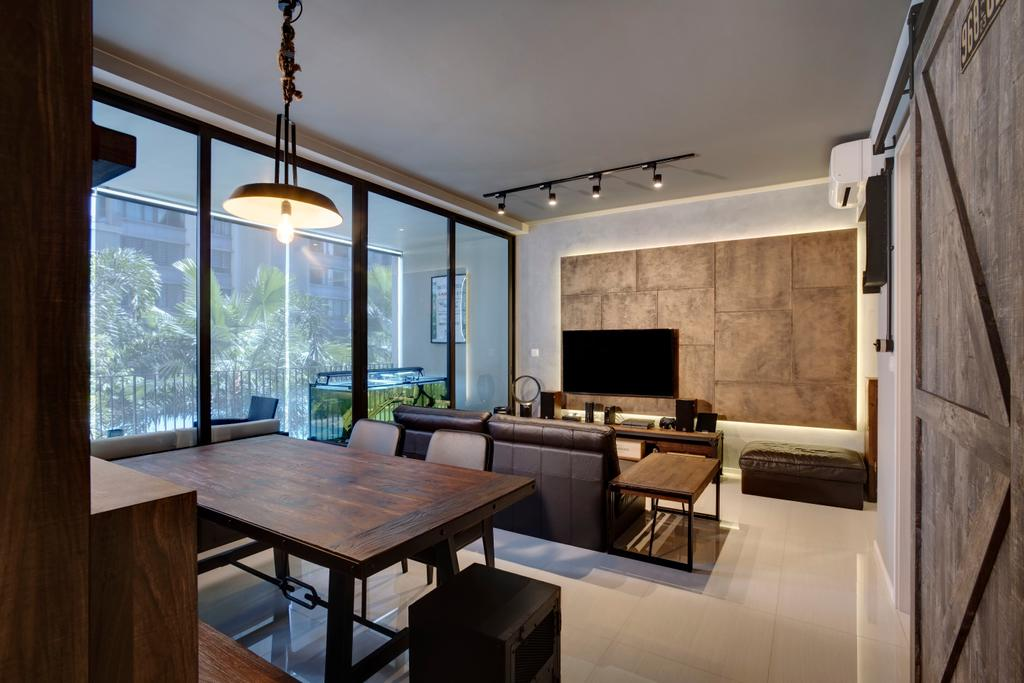 Contemporary, Condo, Amore @ Punggol, Interior Designer, Juz Interior, Dining Room, Indoors, Interior Design, Room, Dining Table, Furniture, Table, Couch, Bench