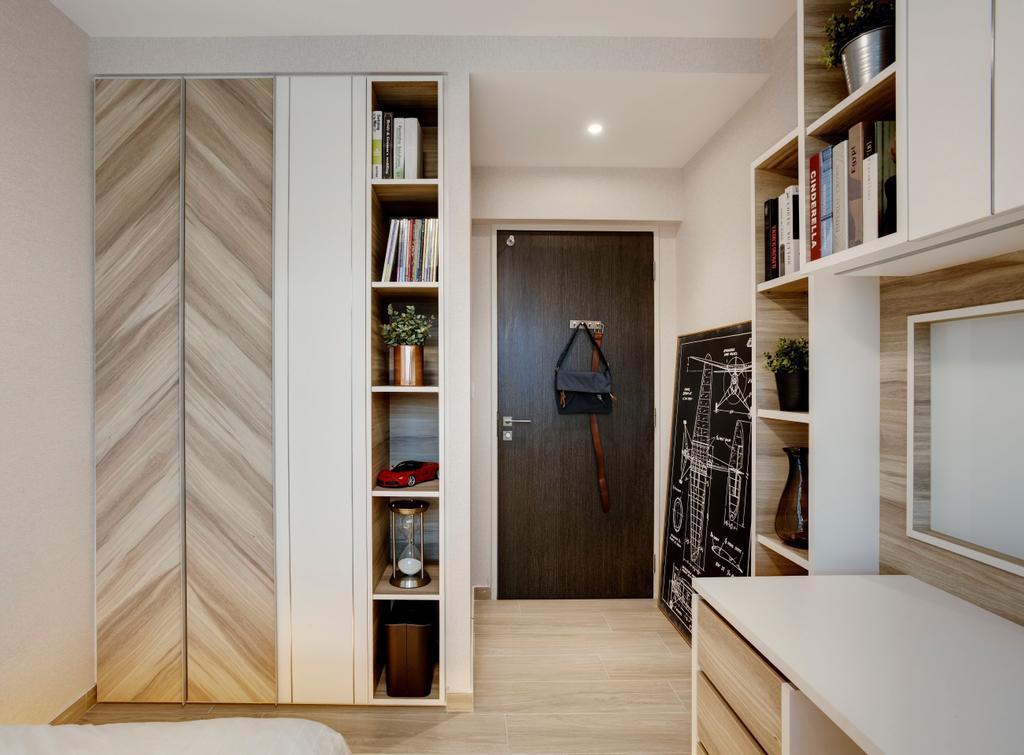 Scandinavian, HDB, Bedroom, Compassvale Mast (Block 216D), Interior Designer, Juz Interior, Indoors, Interior Design, Molding