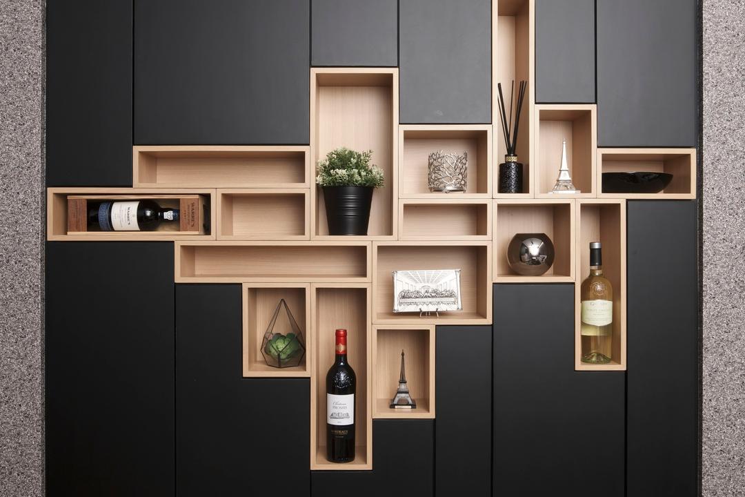 Compassvale Mast (Block 216D), Juz Interior, Scandinavian, Living Room, HDB, Collage, Poster, Diagram, Floor Plan, Plan