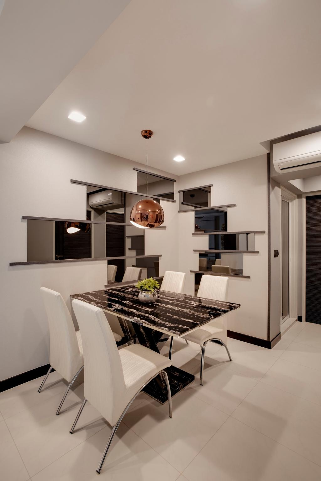Modern, HDB, Dining Room, Whampoa Dew (House 1), Interior Designer, Juz Interior, Molding, Indoors, Interior Design, Room, Light Fixture, Bathroom, Sink