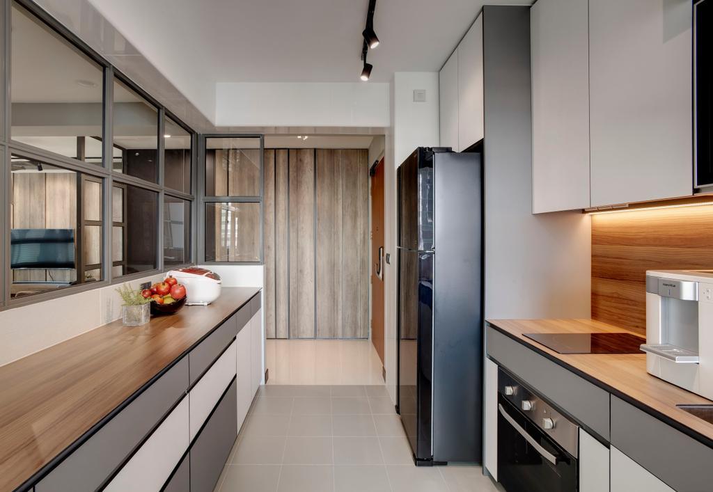 Minimalist, HDB, Kitchen, Whampoa Dew, Interior Designer, Juz Interior, Scandinavian