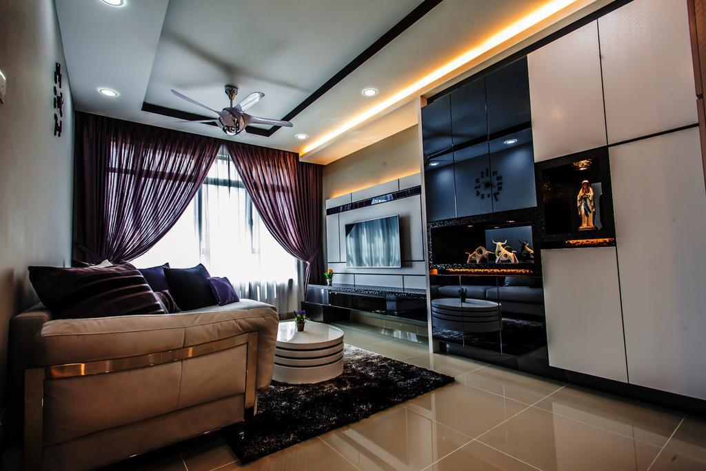 Modern, Condo, Living Room, All Seasons Park - Type B, Interior Designer, Zeng Interior Design Space, Couch, Furniture, Indoors, Interior Design, Collage, Poster, Art, Art Gallery, Electronics, Entertainment Center